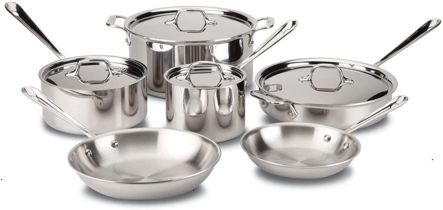 All-Clad Brushed D5 Stainless Cookware Set