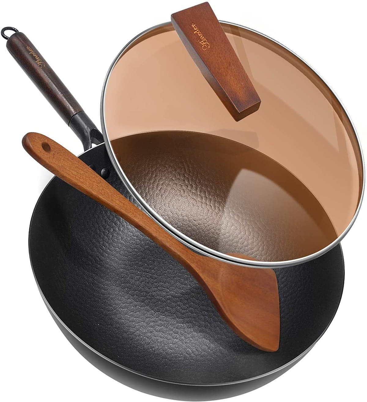Aneder Carbon Steel Wok Pan