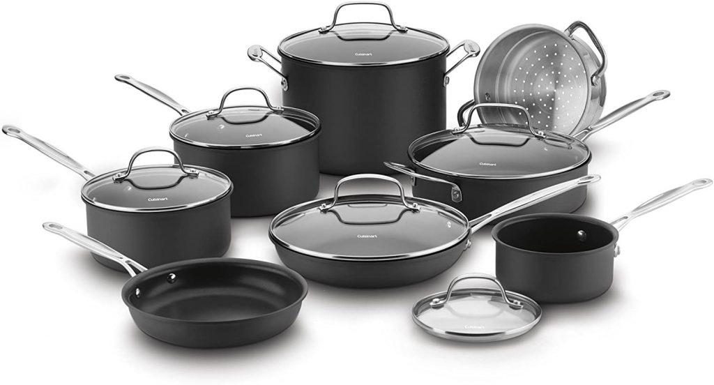 Cuisinart Non-Stick Hard Anodized Cookware Set