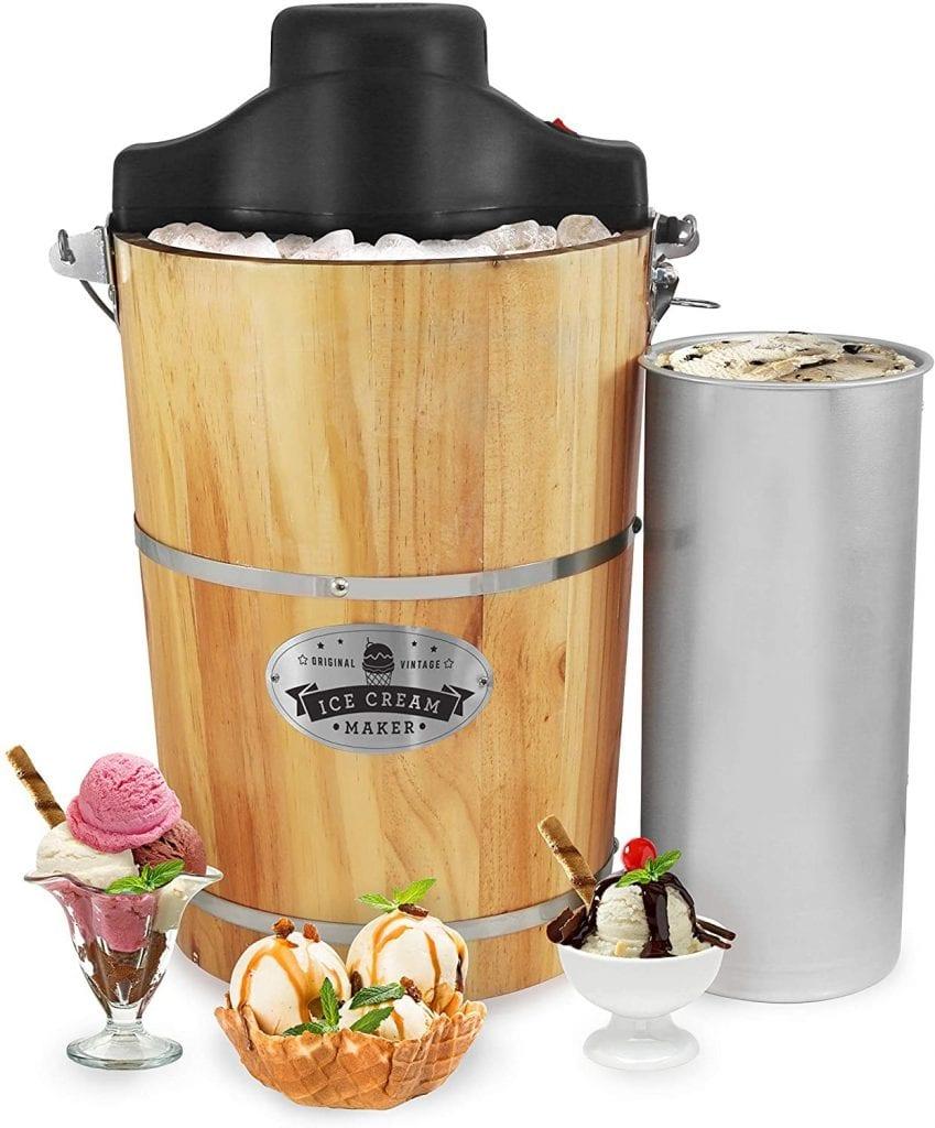 Elite Gourmet EIM-506 Old-Fashioned Ice Cream Maker