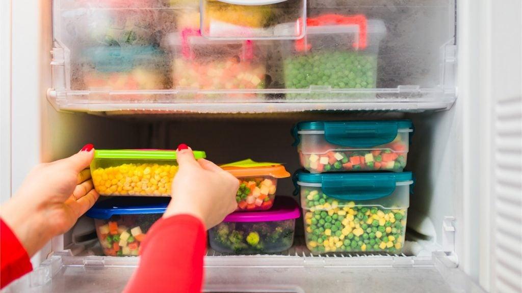 Frozen goods properly stored