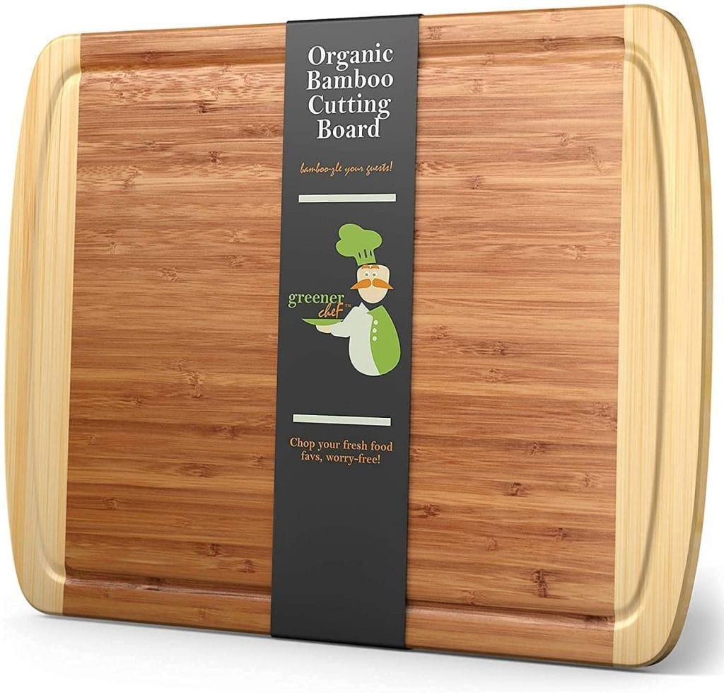 Greener Chef Extra Bamboo Cutting Board