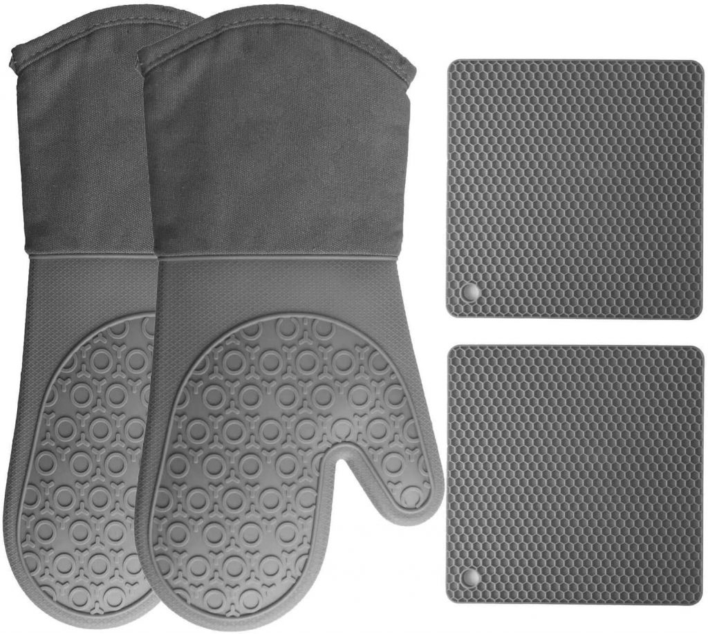 HOMWE Oven Mitts and Pot Holders