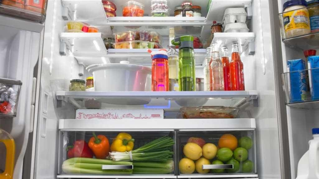 Inside a refrigerator picture