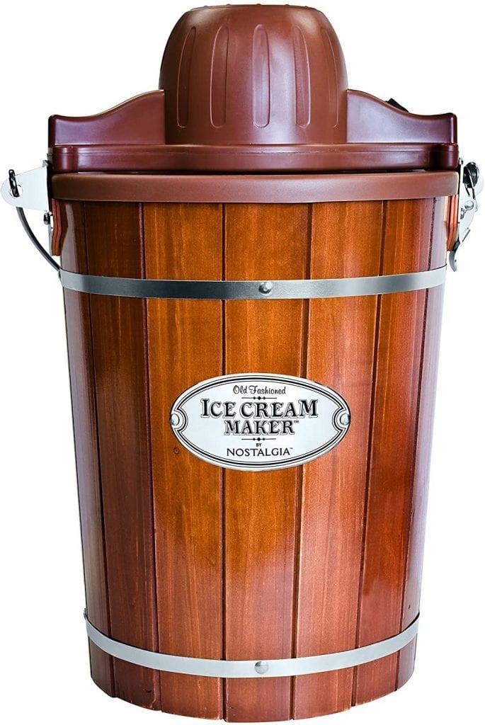 Nostalgia Electric Wood Bucket Ice Cream Maker