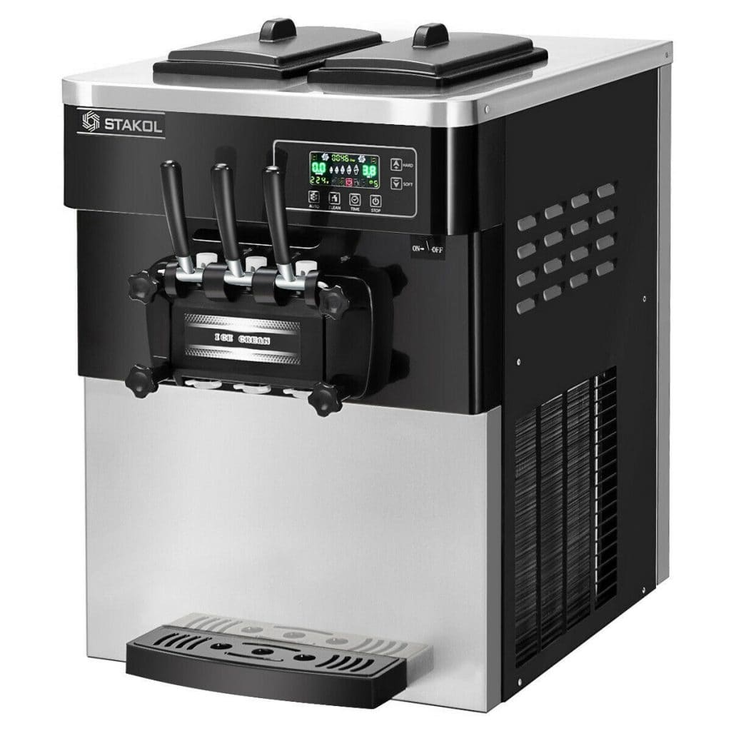 STAKOL Commercial 3 Flavor Ice Cream Machine