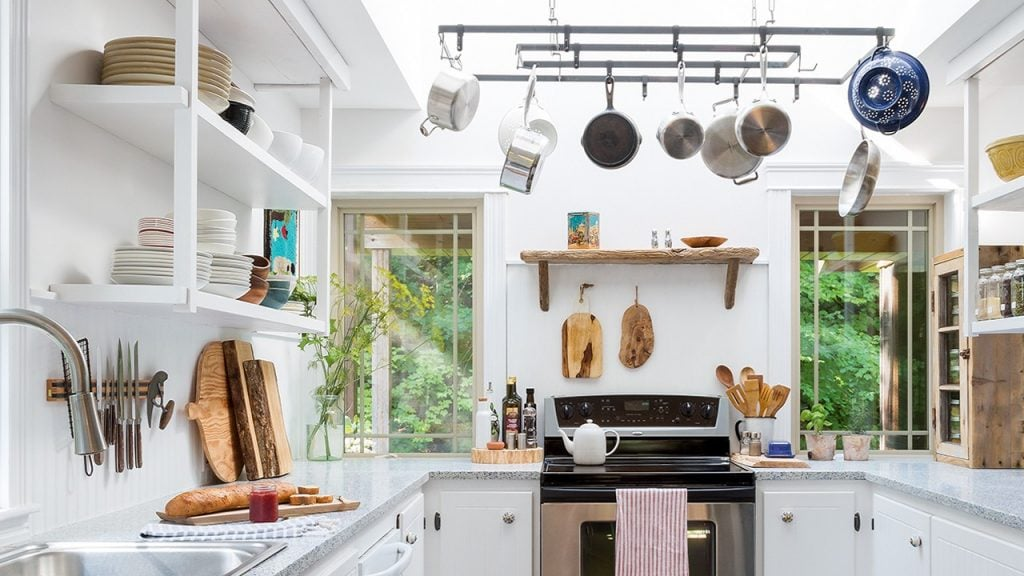 kitchen with cookware picture