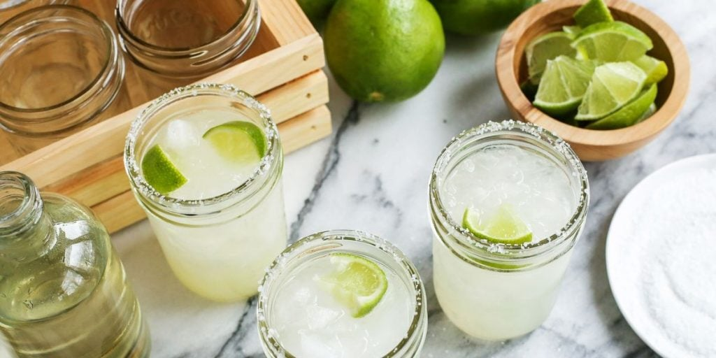 three glasses of margaritas